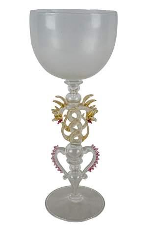 ARS CENEDESI VENETIAN GLASS COMPOTE