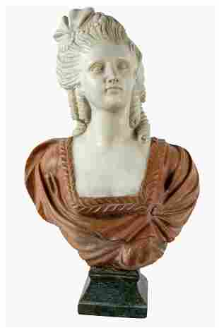 ITALIAN CARVED MARBLE BUST