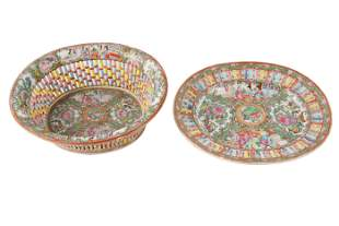 TWO RETICULATED CHINESE PORCELAIN DISHES