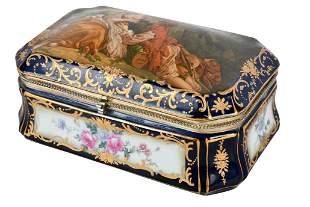 CONTINENTAL PORCELAIN TABLE BOX