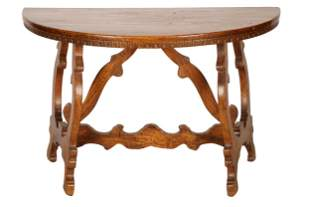 SPANISH BAROQUE STYLE WALNUT SIDE TABLE
