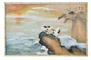 CHINESE PAINTING OF CRANES