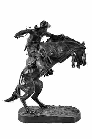 """AFTER FREDERIC REMINGTON (1861 -1909): """"THE BRONCO"""