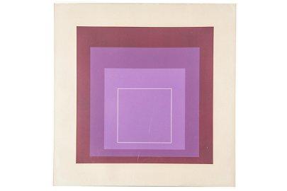 JOSEF ALBERS (1888 - 1976): WHITE LINE SQUARES