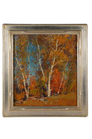 "EMILE GRUPPE (1896 - 1978):  ""THE FALL BIRCH"""