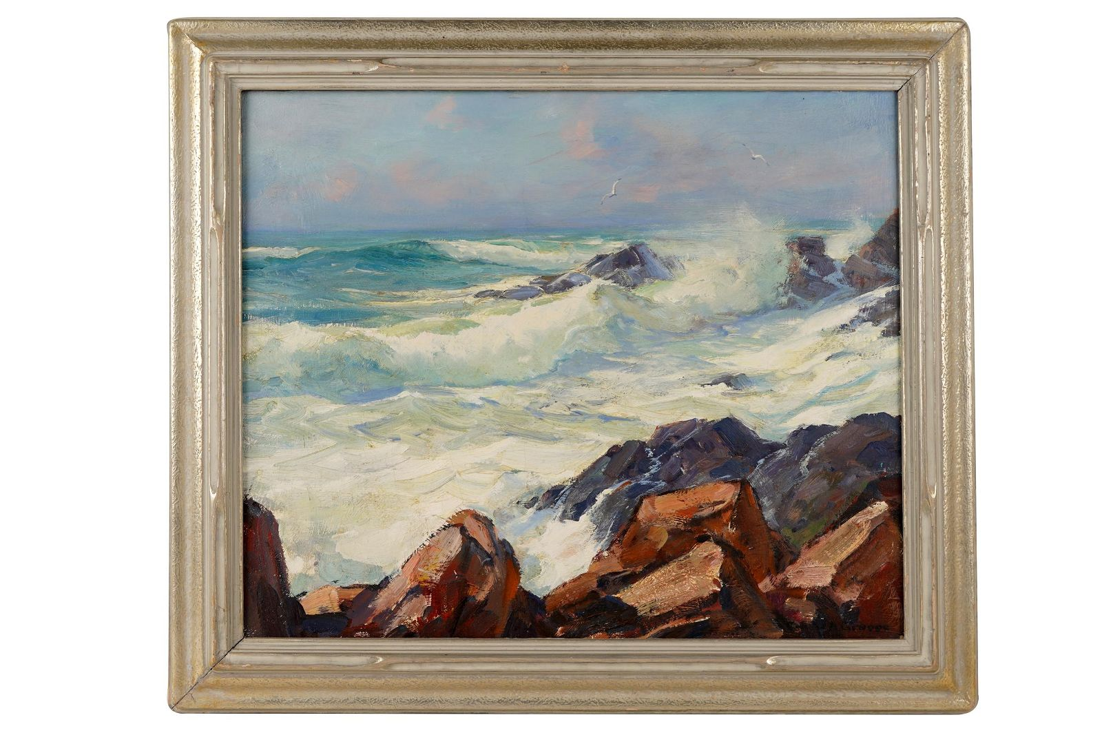 "EMILE GRUPPE (1896 - 1978):  ""MORNING SURF GLOUCESTER"""