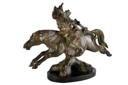 FIGURE OF HORSE & RIDER