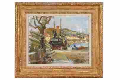 "PIERRE ALMES (B. 1880): ""ST. TROPEZ"""
