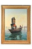 PIETRO GABRINI (1856 - 1926): CHAPEL ON THE LAGOON