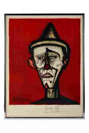 BERNARD BUFFET (1928 - 1999): CLOWN PORTRAIT