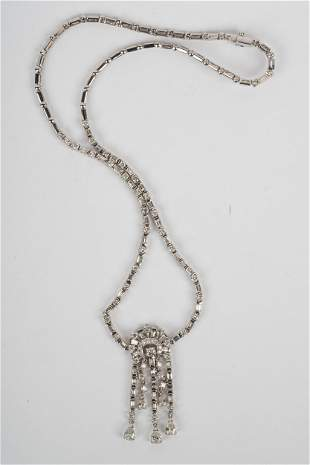 18 KARAT WHITE GOLD & DIAMOND NECKLACE