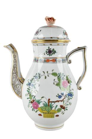 HEREND PORCELAIN COFFEE POT