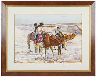 "SHIRL GOEDIKE (B.1923): ""THE CAMEL RIDE EL OVED"""