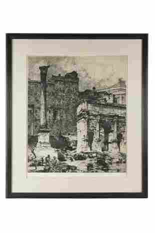 ETCHING OF RUINS