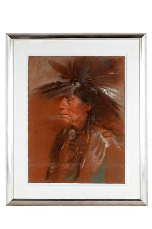 "CLIFFORD BECK (1946-1995): ""PLAINS INDIAN"""