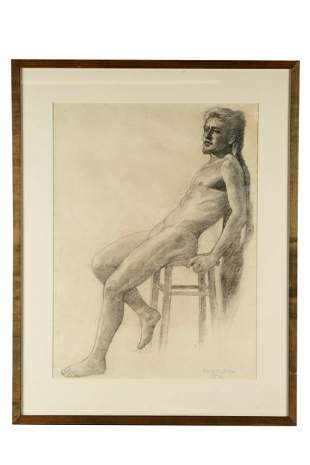 ANN ROBISON: SEATED MALE NUDE