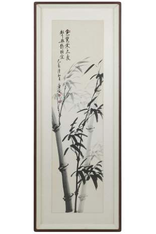 CHINESE BAMBOO WATERCOLOR