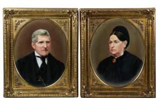 PAIR OF COMPAINION PORTRAITS