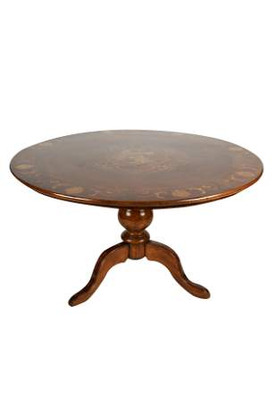 NORTHERN EUROPEAN INLAID DINETTE TABLE