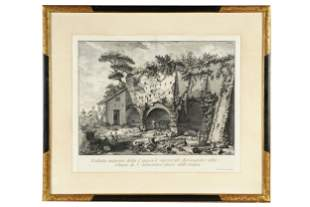 "PIRANESI: ""SAN SEBASTIANO OUTSIDE THE WALLS"" ETCHING"