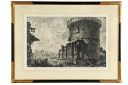 """PIRANESI: """"VIEW OF THE TOMB OF THE PLAUTII"""" ETCHING"""