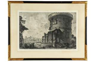 "PIRANESI: ""VIEW OF THE TOMB OF THE PLAUTII"" ETCHING"