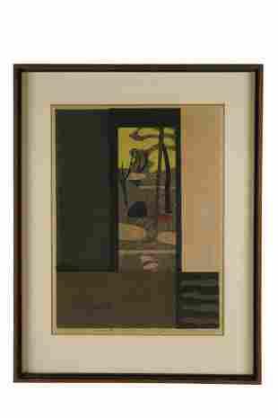 """KIYOSHI SAITO (1907-1997): """"GARDEN AUTUMN"""""""