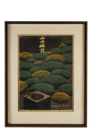 """KIYOSHI SAITO (1907-1997): """"GARDEN IN KYOTO"""""""