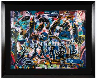CARLOS ALMARAZ (1941-1989): CITY SCENE