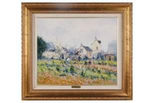"JEAN-PIERRE DUBORD (B. 1949- ): FRENCH LANDSCAPE ""GAUS"