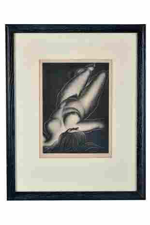 """PAUL LANDACRE (1893-1963):  """"SIESTA"""""""