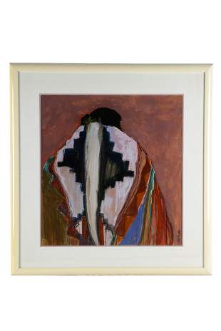 DOLONA ROBERTS (B. 1936- ): NATIVE AMERICAN PORTRAIT