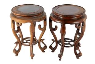 PAIR OF CHINESE HARDWOOD STANDS