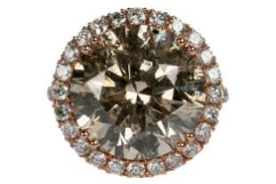 14 KARAT ROSE GOLD & DIAMOND RING