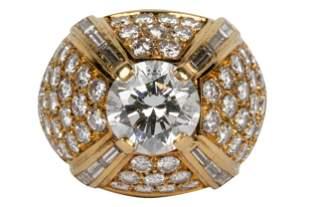 18 KARAT YELLOW GOLD & DIAMOND RING
