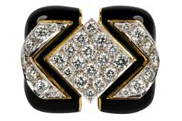 DAVID WEBB 18 KARAT YELLOW GOLD, PLATINUM, DIAMOND, &
