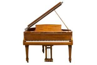 STEINWAY & SONS MAHOGANY GRAND PIANO