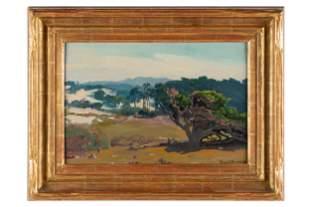 """FRANZ ARTHUR BISCHOFF (1864 - 1929): """"MONTEREY PINES"""