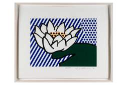 "ROY LICHTENSTEIN (1923-1997): ""WATER LILY"""