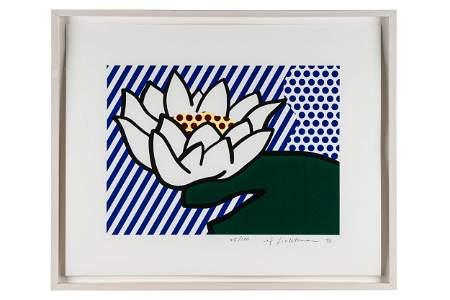 """ROY LICHTENSTEIN (1923-1997): """"WATER LILY"""""""