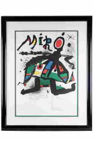 "JOAN MIRO (1893 - 1983): ""EXHIBITION 'MIRO' GALERIE"