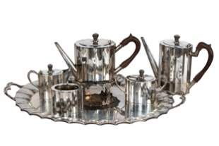 MEXICAN MODERNIST STERLING SILVER TEA & COFFEE SERVICE