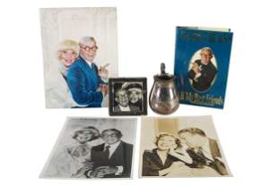 CAROL CHANNING & GEORGE BURNS GROUP OF FOUR ITEMS
