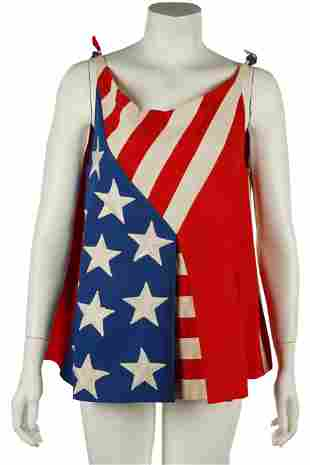 """CAROL CHANNING """"THE LOVE BOAT"""" AMERICAN FLAG TOP"""