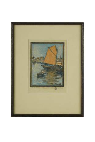 "ELIZABETH NORTON (1887 - 1985): ""FISHING BOATS"