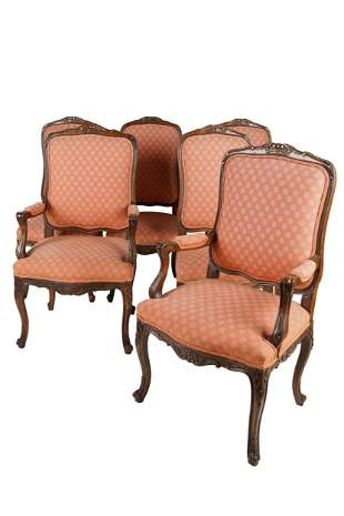 SET OF TWELVE FRENCH PROVINCIAL STYLE DINING CHAIRS