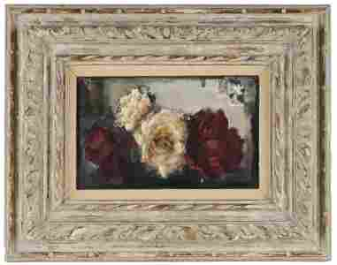 "GRIGORY GLUCKMANN (1898 - 1973): ""RED & WHITE ROSES"""
