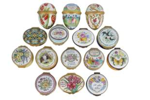 COLLECTION OF ENAMEL PILL BOXES
