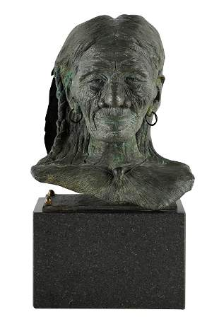 20TH CENTURY: BUST OF A NATIVE AMERICAN