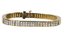18 KARAT YELLOW GOLD & DIAMOND BRACELET